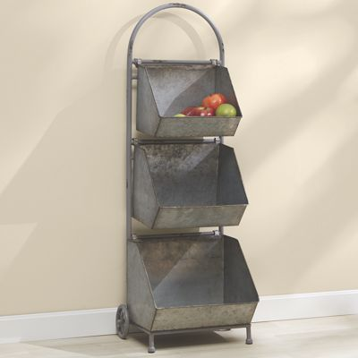 3-Tier Galvanized Cart