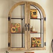 window wall shelf