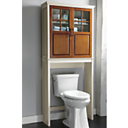 two tone bath space saver and cabinet