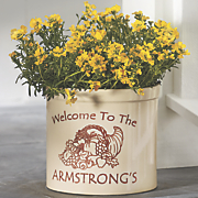 personalized cornucopia crock