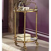 gold serving cart