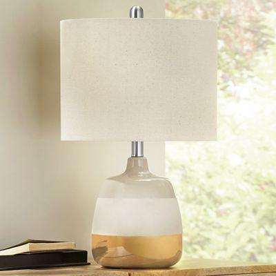 Taupe Metallic Lamp