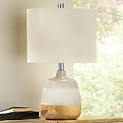 taupe metallic lamp
