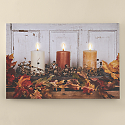 lit candle art