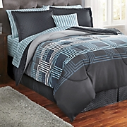 jefferson plaid complete bed set  accent pillow and window treatments