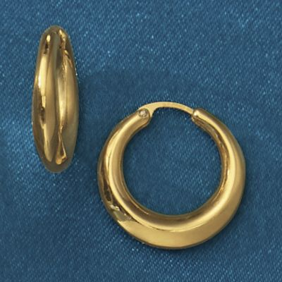14K Gold Nano Diamond Resin Petite Hoops