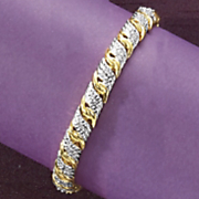 diamond wrap link bracelet