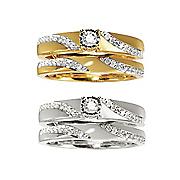 women s swirl diamond bridal set
