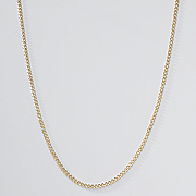 goldtone curb chain