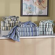 6 pc  waffle checks towel set