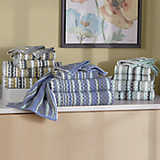 6 pc  waffle checks towel set
