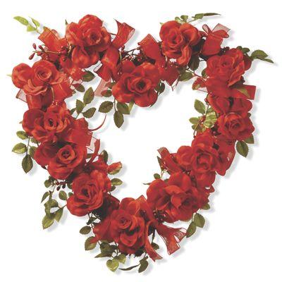 Valentine Rose Heart Décor