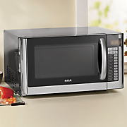 1 6 cu  ft  stainless steel microwave oven by rca