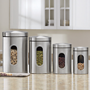 4 pc  window canister set 35