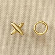 10k gold x o earrings