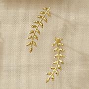 10k gold vine earrings