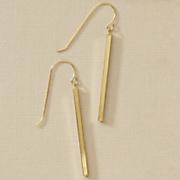 10k gold stick earrings