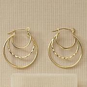 10k gold triple hoops