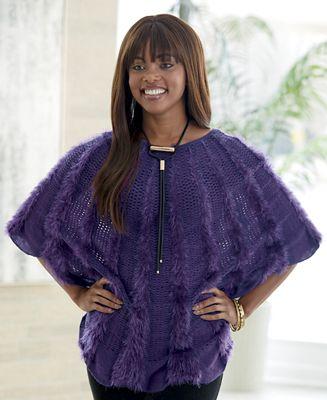 Alisha Poncho Sweater