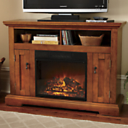 tv center fireplace with remote