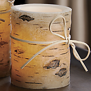 short birch pillar candle 82