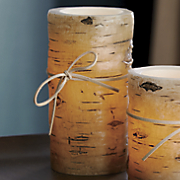 tall birch pillar candle 85