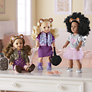 18  style girl doll with outfits