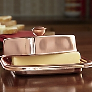 copper butter dish