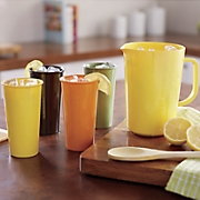 5 pc  retro pitcher glass set