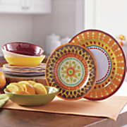 12 pc  melamine dinnerware set