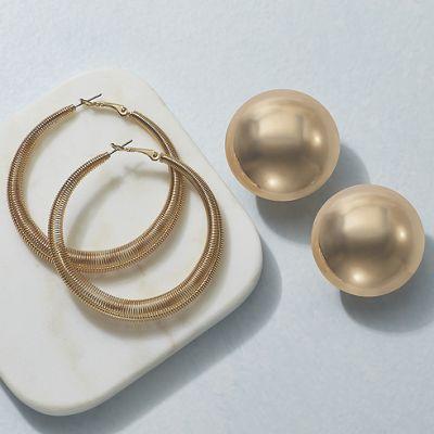 Hoop and Post Earring Set