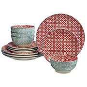 12 pc  ceramic dinnerware set