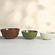 set of 3 embossed harvest mixing bowls