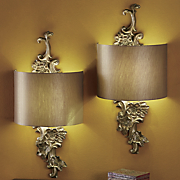 gold floral wireless led wall sconce 144