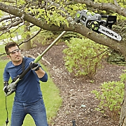 4 in 1 corded convertible pole chainsaw and hedge trimmer by earthwise
