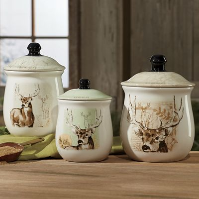 3-Piece Mountain Wildlife Canister Set