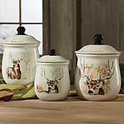 3 pc  mountain wildlife canister set