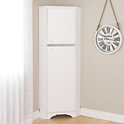 tall 2 door corner storage cabinet