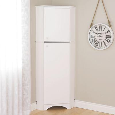 Tall 2-Door Corner Storage Cabinet