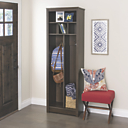 space saving entryway organizer