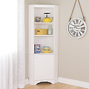 tall 1 door corner storage cabinet