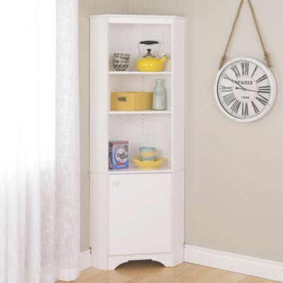 Tall 1-Door Corner Storage Cabinet