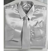 satin shirt tie pocket square