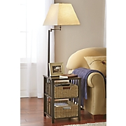 side table lamp with basket drawers