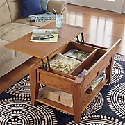 transitional lift top coffee table