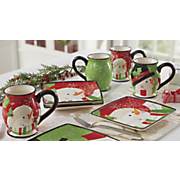 4 pc  happy snowman mug set