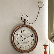 bronze pocket watch wall clock
