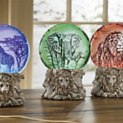 safari led waterglobe