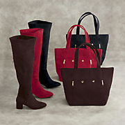 dion tote bag and thigh high boot