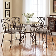 scroll dining table   chairs